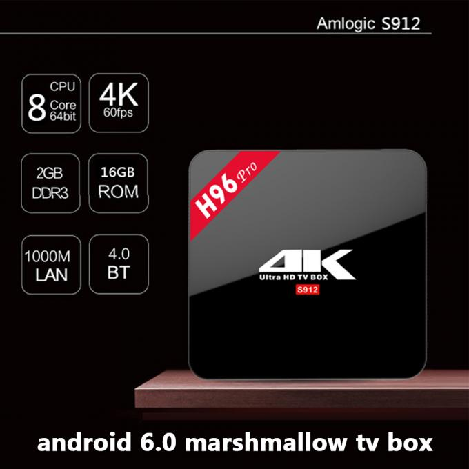 H96 Pro Amlogic S912 KODI 17.3 Pre-installed Android 7.1 TV Box Universal