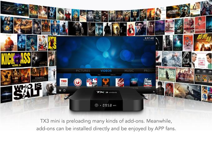 Dual Audio Stereo Latest Android Tv Box , Wireless Android Tv Box Android 7.1 Os