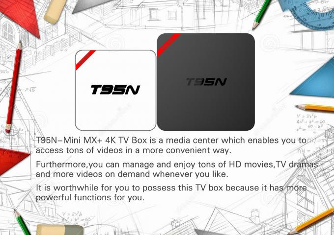 Full Media Format Android Smart Tv Box T95n Support U Disk Mmc Cards