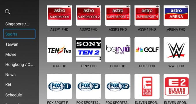 Sport Channels Myiptv 4K Full Languages 500+ Vod Programs Singapore Hot Selling