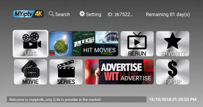 MYIPTV 4K Subscription for 1 year Singapore Malaysia Taiwan IPTV Channels Server Pin code