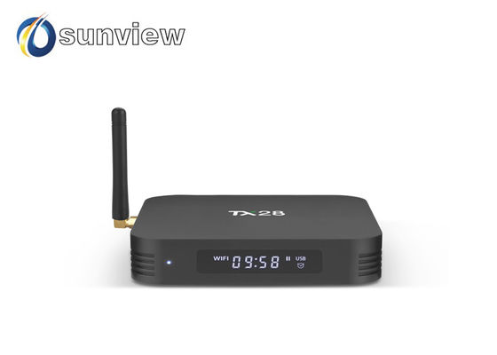 China TX28 RK3328 Quad Core KODI Pre-installed with LED Android 7.1 TV Box supplier