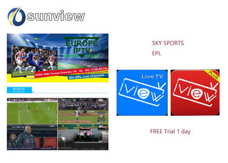 China Europe Epl Iview Iptv Apk Sky Sport Channels 1 / 3 / 6 / 12 Months Subscription supplier