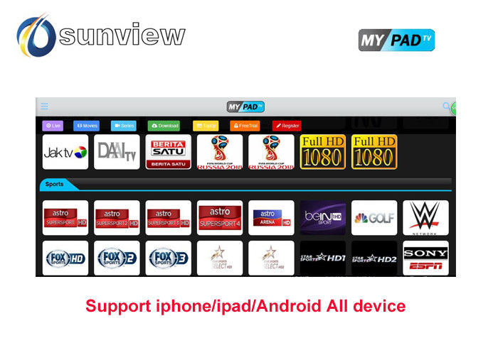 1/3/6/12 months Mypadtv apk Iptv Channels Subscription Day Free Trial